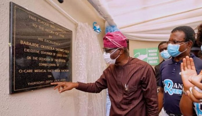 First Indigenous Medical Face Mask Factory In Lagos
