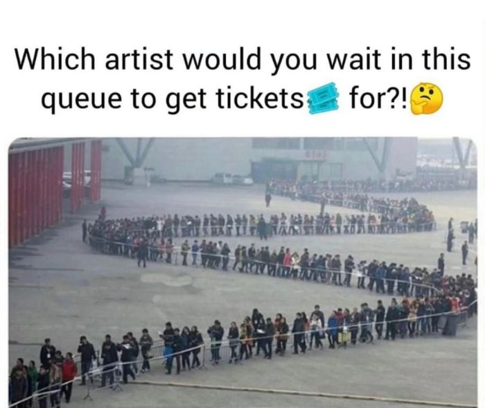 BE HONEST!! Which Artiste Would You Stand In This Kind Of Queue To Get Tickets For Their Show? 1