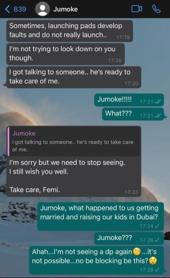 RELATIONSHIP WAHALA!! What Advice Would You Give Femi After His Girlfriend, Jumoke Did This To Him?