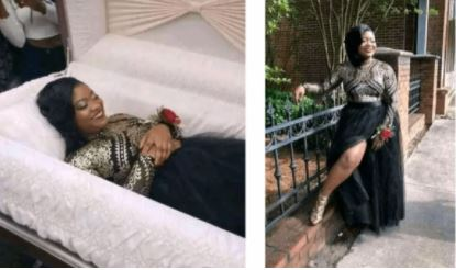 Lady Goes Viral as She Takes Her 'Pre-Burial' Photos