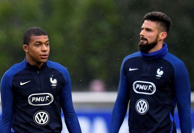Tension In France As Mbappe & Giroud Are Not In Talking Terms (See Why)
