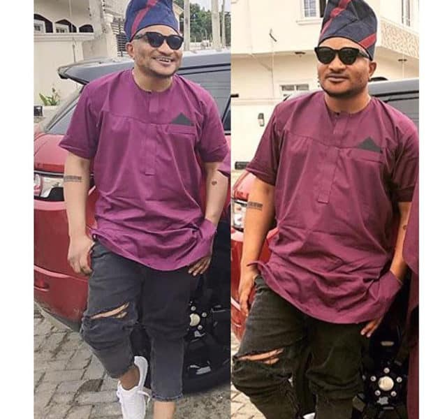 masterkraft 640x600 - LOL! See what MasterKraft wore to Banky W and Adesua's traditional wedding ceremony
