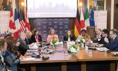 G7 ministers meet on Russia, Iran, North Korea threats