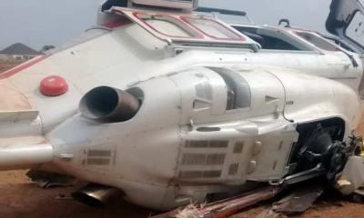 Watch The Moment Osinbajo's Chopper Crashed In Kabba, Kogi