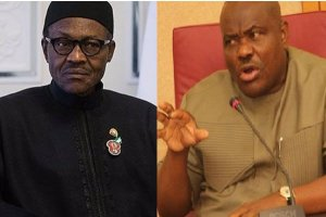 Buhari and Wike rivers - Amidst #EndSARS Protests, Wike Accuses FG Of Imposing More Burdens On States