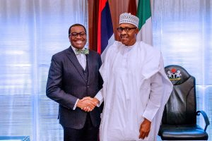 President Buhari Meets Newly Re-elected AfDB President Adesina