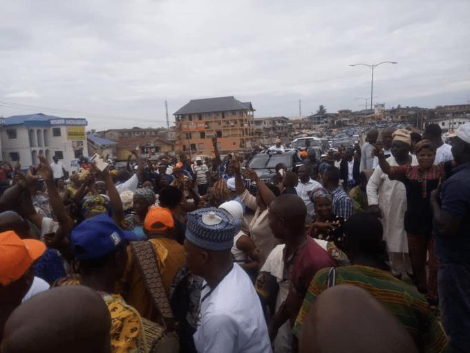 APC supporters celebrate Oyetola's victory