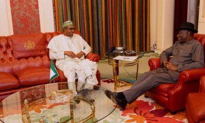 Just In: Buhari, Jonathan In Closed-Door Meeting In Aso Rock