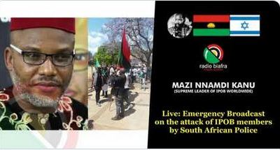 Biafra: Full Audio Of Nnamdi Kanu's 'Emergency Broadcast' (Listen Here)
