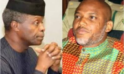 Biafra: Nnamdi Kanu Makes 'Strong' Allegation Against Vice President Osinbajo