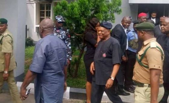 'Please, Don't Handcuff Me' — Orji Uzor Kalu Begs Prison Warders After Jail Sentence
