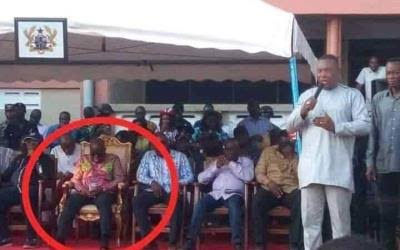 images 2 - Ghanaian President, Nana Akufo-Addo, Spotted Again Sleeping At An Event