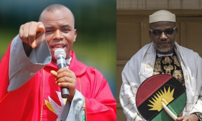 Biafra: Nnamdi Kanu Bombs Father Mbaka Over Prophecy On Ihedioha, Hope Uzodinma