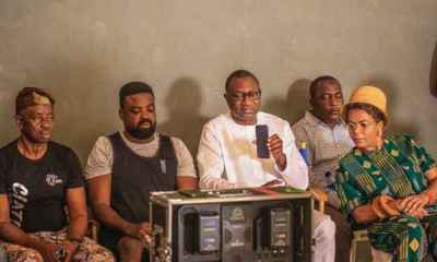 Femi Otedola and Family on Movie Set