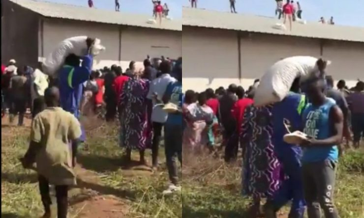 Residents Of Jos Loot COVID-19 Palliatives (Video)