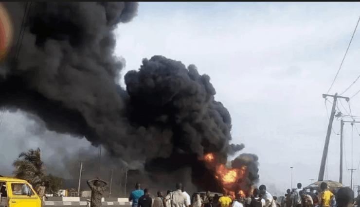 Lagos: Petrol Tanker Explodes In Ogba As building Collapses In Ikorodu (Video)