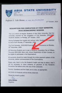 Nigerians React As ABSU Ask Students To Pay 'Pandemic Prevention Fee'
