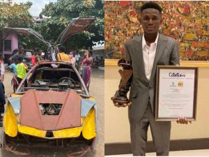 Kelvin Odartey, JHS Graduate Who Made His Own Car Gets YPYC Award – [Photos]