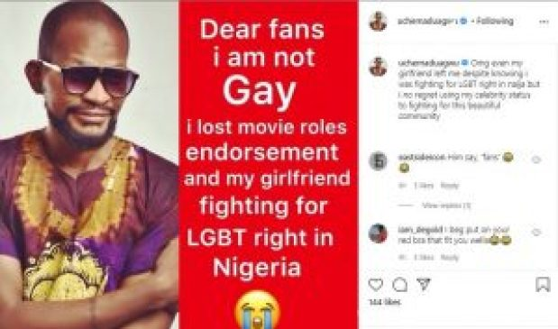 I Am Not Gay O- Nollywood Actor, Uche Maduagwu Cries Out As He Reveals Why He Lied About His Sexuality