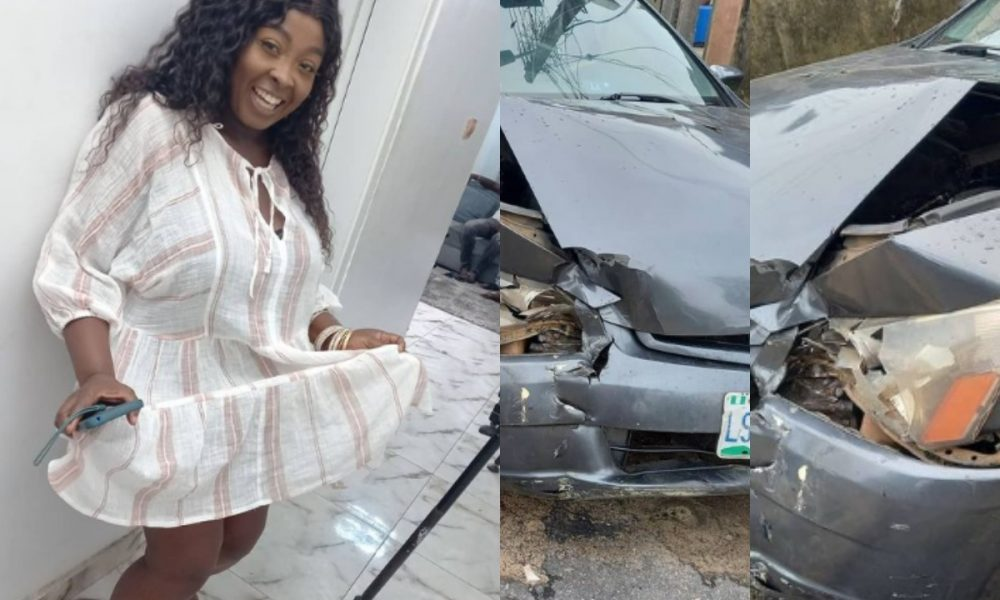 Popular OAP, Lolo And Her Children Escape Death In Ghastly Car Accident