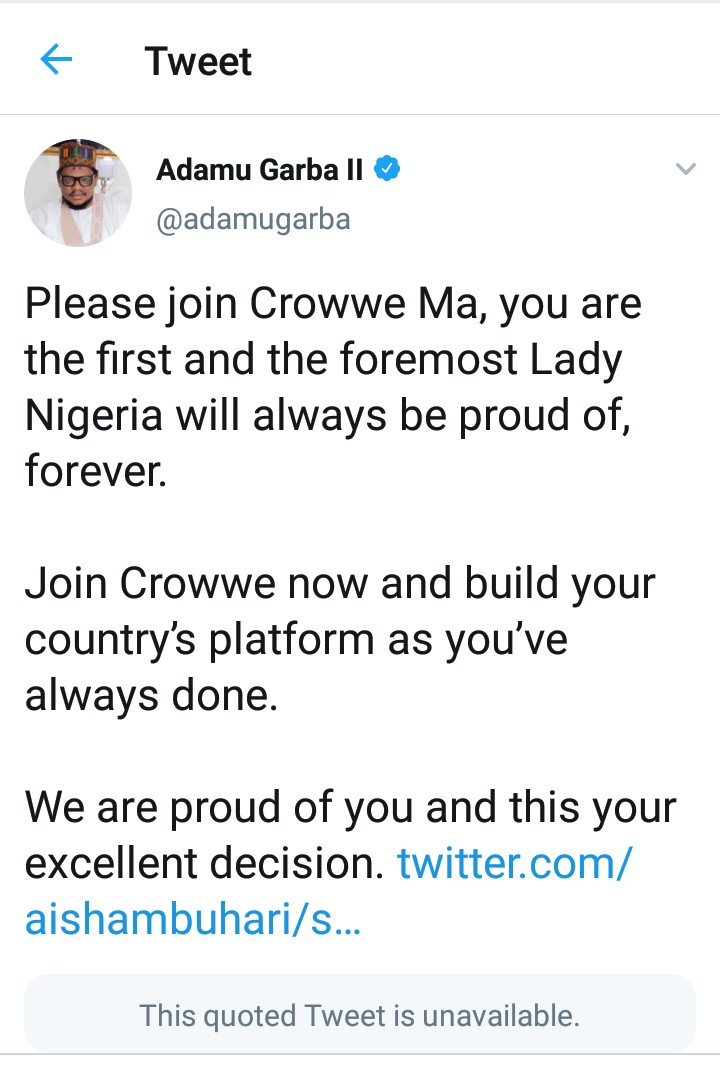 Breaking: Aisha Buhari Deactivates Her Twitter Account