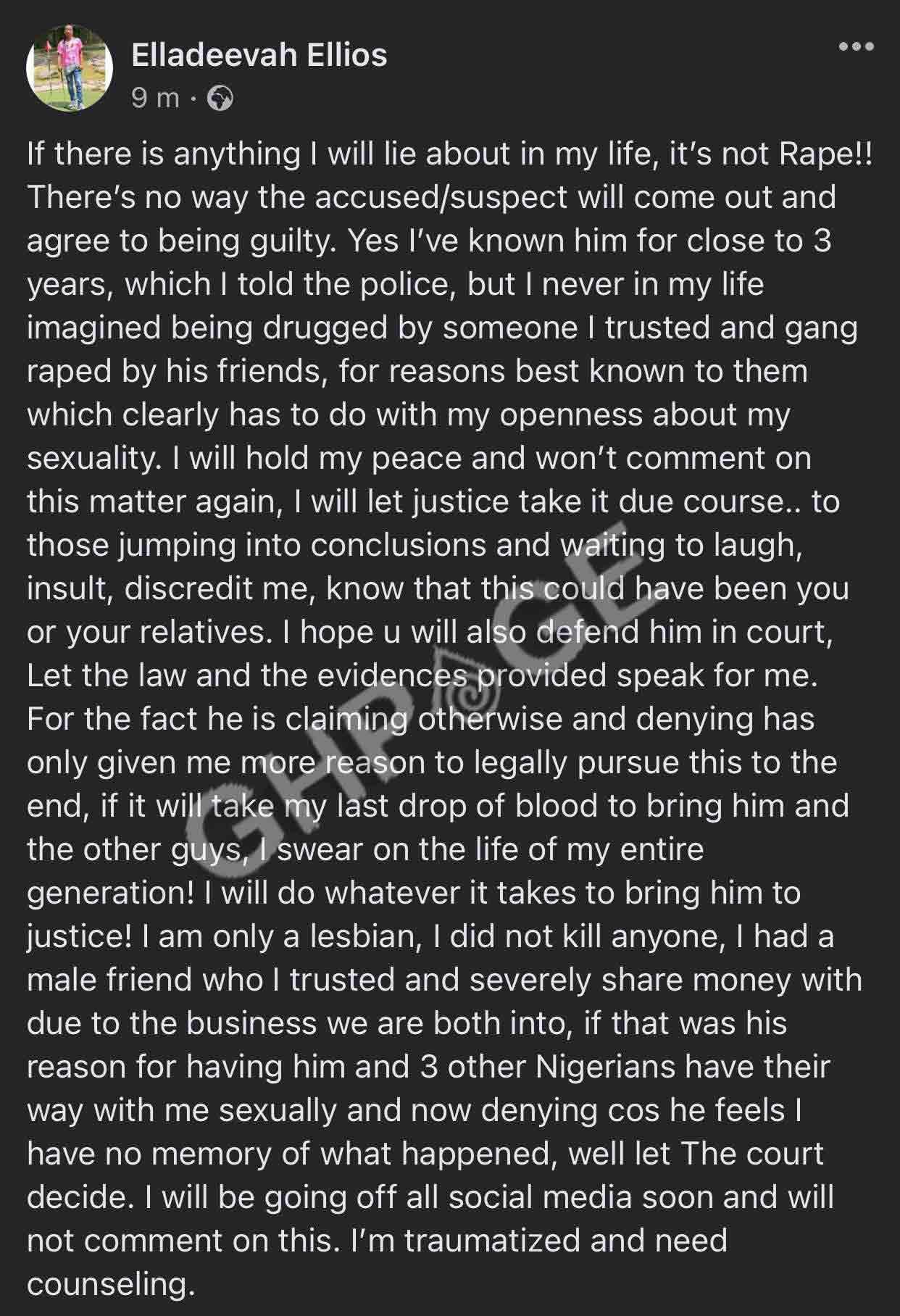 Ghana-based Nigerian Lesbian Raped By 4 Nigerian Men In Ghana
