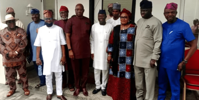 South West PDP Exco Meets With Fayose, Sues For Peace [Photos]