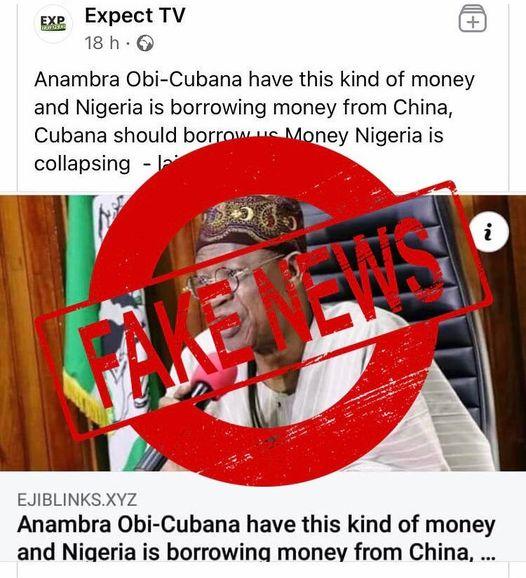 FG Speaks On Taking Loan From Obi Cubana