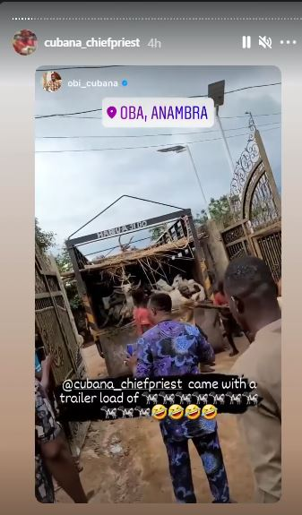 My Village People Are Angry - Cubana ChiefPriest Who Gifted Former Boss, Obi Cubana 46 Cows Cries Out