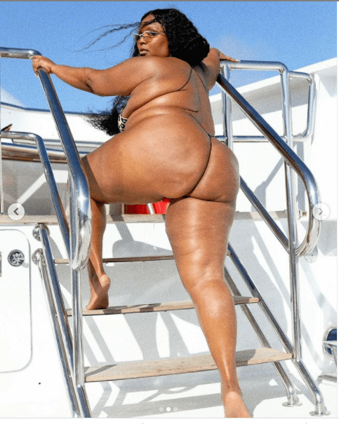 Singer Lizzo Flaunts Eye-popping Melanin Body In Skimpy Bikini