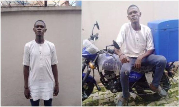 Nigerian Man Cries In Pain As Dispatcher Disappears With His Bike On His First Day To Work