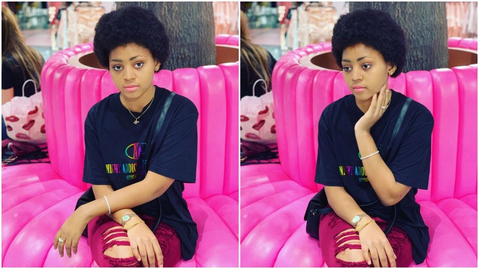 Regina Daniels Flaunts Her New Afro Hair Style And Nose Ring In New Photos