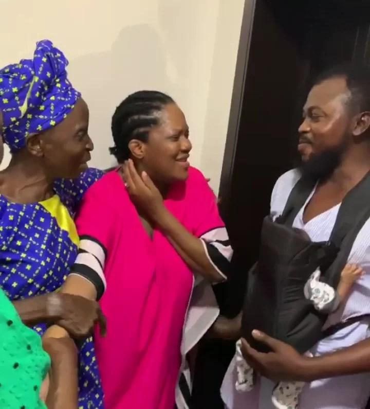 Toyin Abraham Husband Kolawole With Their Parent Suprised
