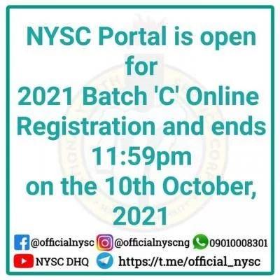 NYSC 2021 Batch C