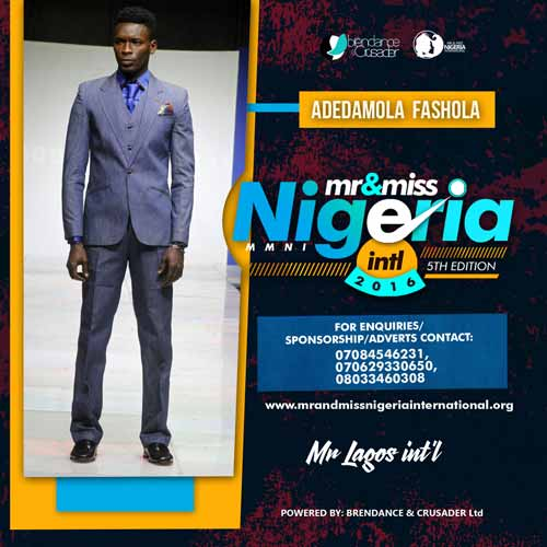 Adedamola Fashola, Finalists, Mr And Miss Nigeria International Pageant 2016