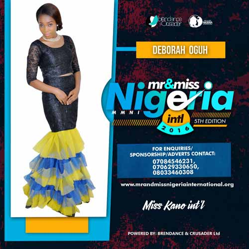 Deborah Oguh, Finalists, Mr And Miss Nigeria International Pageant 2016