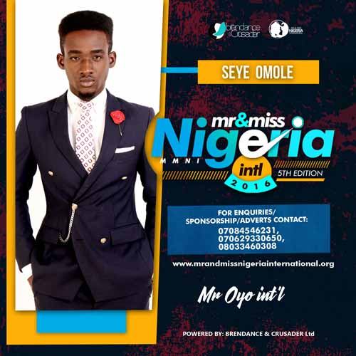 Omole Sheye, Finalists, Mr And Miss Nigeria International Pageant 2016