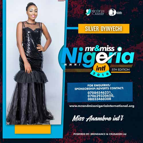 Silver Onyinyechi, Finalists, Mr And Miss Nigeria International Pageant 2016
