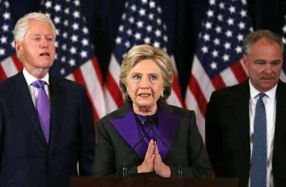 Hillary Clinton concedes, official speech after poll