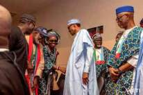 PHOTO NEWS: PRESIDENT BUHARI CAMPAIGNS FOR ONDO APC GUBER CANDIDATE, ROTIMI AKEREDOLU