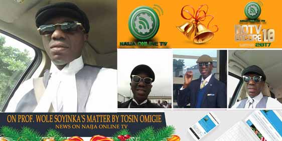 ON PROF. WOLE SOYINKA'S MATTER BY TOSIN OMIGIE