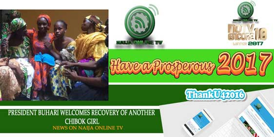 PRESIDENT BUHARI WELCOMES RECOVERY OF ANOTHER CHIBOK GIRL