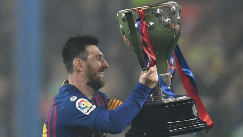 Messi seals latest Barcelona Liga title after win over Levante