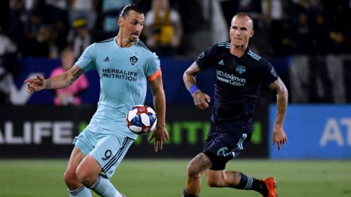 Ibrahimovic closes in on MLS record with penalty strike against Houston