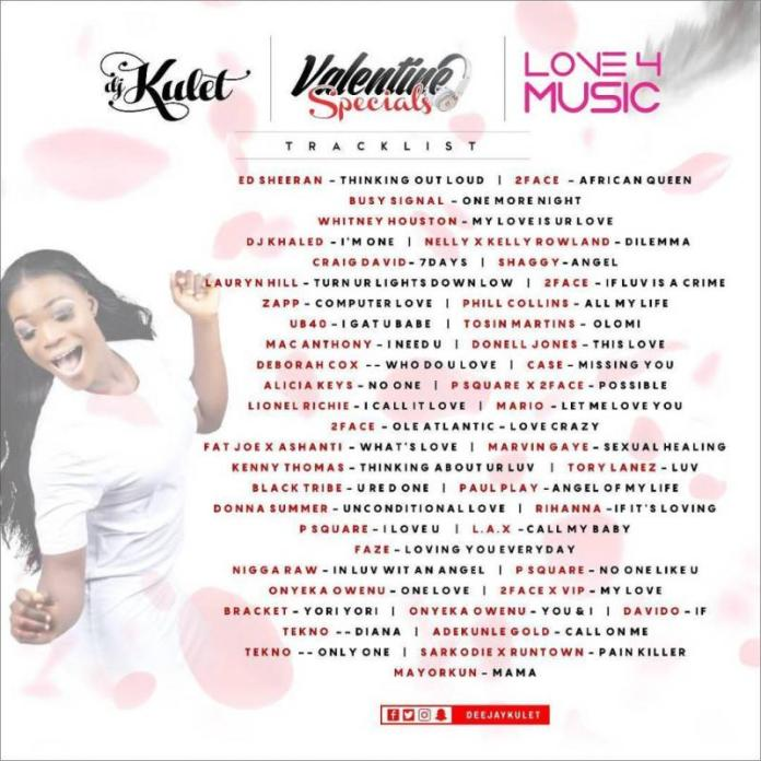 DOWNLOAD: DJ Kulet – Valentine Specials Mixtape