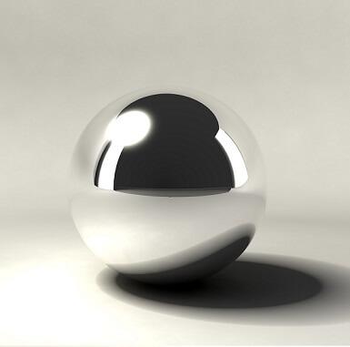 one silver chrome ball