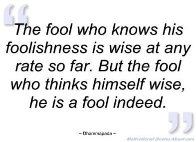 entrepreneurial foolishness