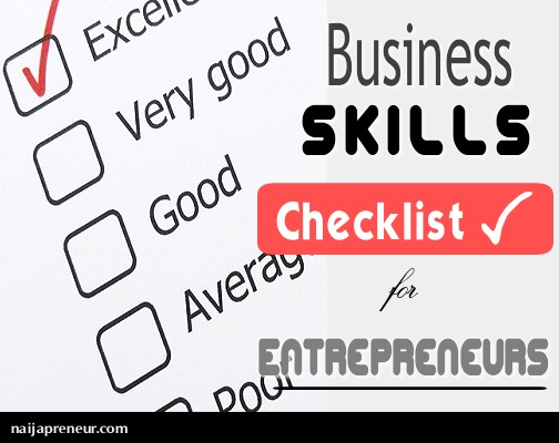 Business Skills Checklist
