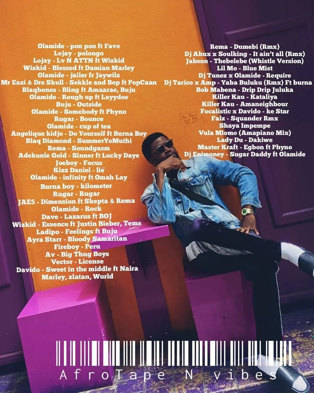 AfroTape tracklist