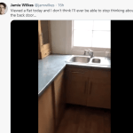 House Hunter expresses shock after getting a House with back door hidden in kitchen cabinet (video)